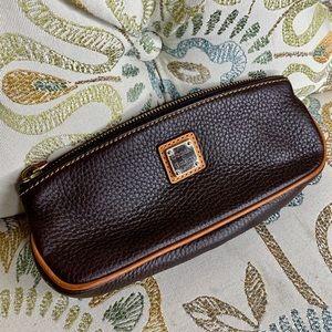 Dooney & Bourke Brown Tan Pebble Leather Case